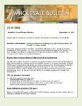 Wholesale Bulletin 21W-069 DU Release Notes