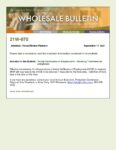 Wholesale Bulletin 21W-070 VVOE 7 Days from Note Date